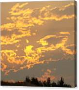 Sunlit Clouds Sunset Art Prints Gifts Orange Yellow Sunsets Baslee Troutman Canvas Print