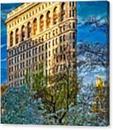 Sunlit Flatiron Spring Canvas Print