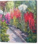 Sunlit Garden Canvas Print