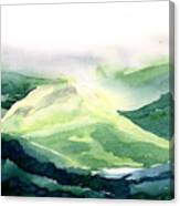 Sunlit Mountain Canvas Print
