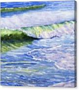 Sunlit Surf Canvas Print