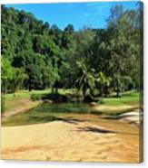 Sunny Beach Tioman Island Canvas Print