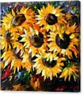 Sunny Bouquet Canvas Print
