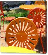 Sunny Chairs 5 Canvas Print
