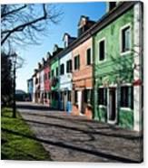 Sunny Colors Of Burano Canvas Print