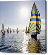 Sunny Day Sailing Canvas Print