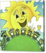 Sunny Day Train Canvas Print