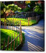 Sunny Garden Path Canvas Print