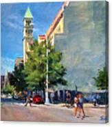 Summer Morning Near St. Michael's Church, Amsterdam Ave. Canvas Print