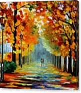 Sunny October Canvas Print