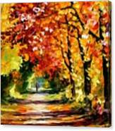 Sunny Path Canvas Print