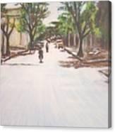Sunny Road Canvas Print