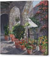 Sunny San Miguel Courtyard Canvas Print