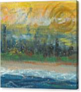 Sunny Side Beach Canvas Print
