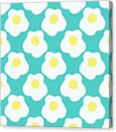 Sunny Side Up Eggs- Art By Linda Woods Canvas Print