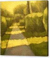 Sunny Sidewalk Canvas Print