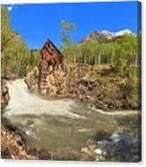 Sunny Skies Over The Crystal Mill Canvas Print