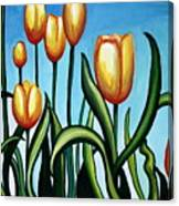 Sunny Yellow Tulips Canvas Print