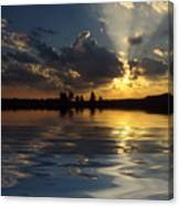 Sunray Sunset Canvas Print