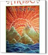 Sunrays - Arise New Day Canvas Print