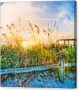 Sunrays On The Beach Canvas Print