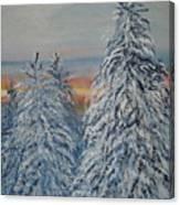 Sunrise After Snow Storm Canvas Print