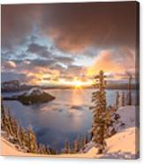 Sunrise After Summer Snowfall Canvas Print