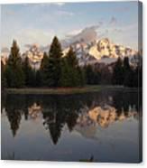 Sunrise Along The Range Canvas Print
