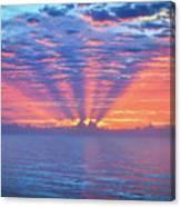 Sunrise At Atlantic Beach Canvas Print