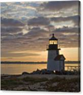 Sunrise At Brant Point Nantucket Canvas Print