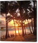 Sunrise At Catseye Beach Canvas Print