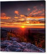 Sunrise At Dolly Sods At Bear Rocks Canvas Print