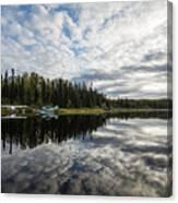 Sunrise At Fish Lake Canvas Print