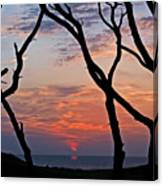 Sunrise At Fort Fisher Canvas Print