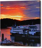 Sunrise At Friday Harbor Canvas Print