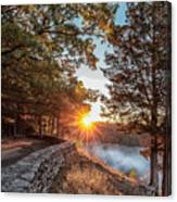 Sunrise At Great Bend Canvas Print