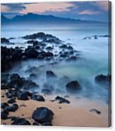 Sunrise At Ho'okipa - Sunrise At Hookipa Beach In Maui Canvas Print