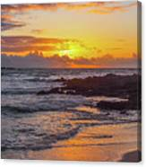 Sunrise At Makapu'u Canvas Print