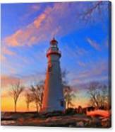 Sunrise At Marblehead Lighthouse Panorama Canvas Print