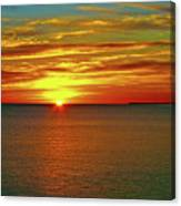 Sunrise At Matane Canvas Print