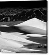 Sunrise At Mesquite Flat Sand Dunes Panorama Canvas Print