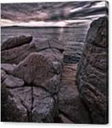 Sunrise At Otter Cliffs #5 Canvas Print
