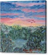 Sunrise At Quialigo Canvas Print