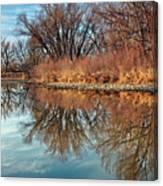 Sunrise At River Bend Ponds Canvas Print