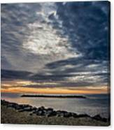 Sunrise At Rudee Inlet Canvas Print
