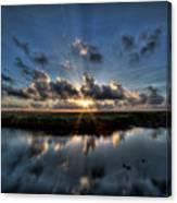Sunrise At Sabine Pass Canvas Print