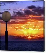 Sunrise At Sea Off The Delmarva Coast Canvas Print