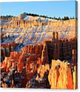 Sunrise At Sunset Point In Bryce Canyon Canvas Print
