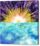 Sunrise At The Edge Of Earth Canvas Print