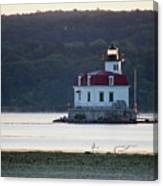 Sunrise At The Esopus Lighthouse Canvas Print